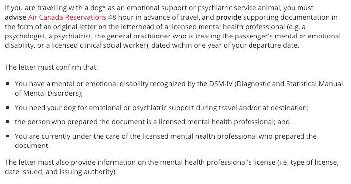 Esa Travel Letter Includes Letter Amp Talk Therapy Canada